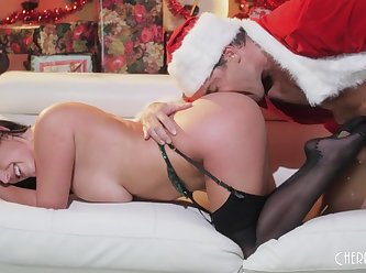 Cherry pimps angela white gets put on santas naughty list XXX