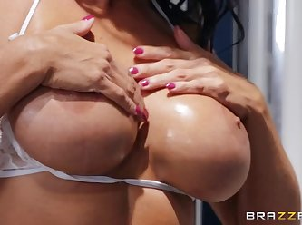Mommy got boobs reagan foxx bronzing in the batters booth XXX