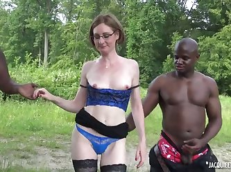 Mature Slut Takes Two Black Cocks 480