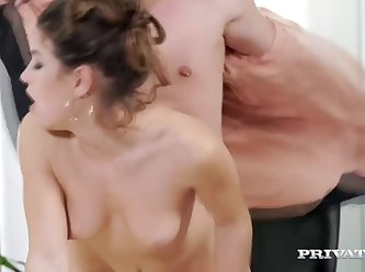 Julia Roca Has Her Hairy Pussy Pounded In The Office 480