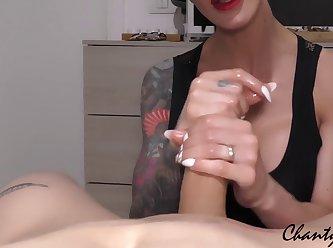 Chantychrys Handjob Edging Sexy Milf Redlips Guide H 720p