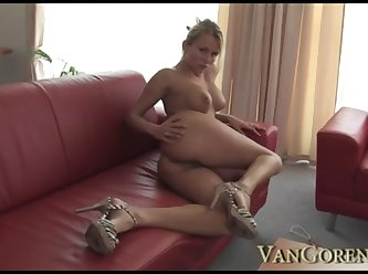Sexy Young Mom Plays With Cock 360