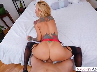 Action With Blonde Housewife 360